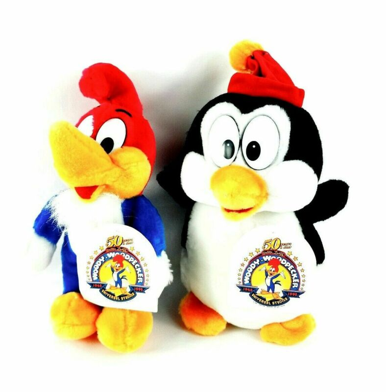 1989 Chilly Willy Woody Woodpecker Plush Stuffed Set Universal City Studios NEW