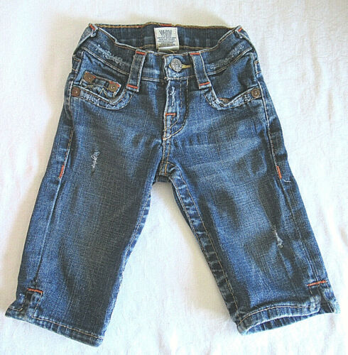 True Religion Kate Toddler Girl Distressed Cropped Jeans Size 4 EUC
