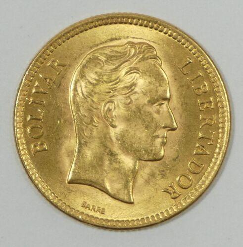 1930 VENEZUELA Simon Bolivar 10 Bolivares GOLD Coin BRILLIANT UNCIRCULATED