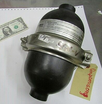 Blacoh Sentry Ii Pvdf Pulsation Surge Dampener 100 Psi 150f 401-v Diaphragm Pump