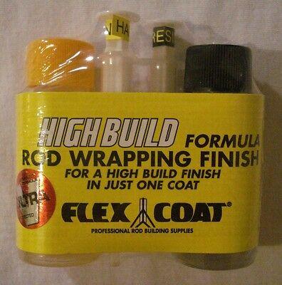 New Flex Coat High Build Fishing Rod Wrapping Finish Epoxy 2oz Kit V2S Syringes