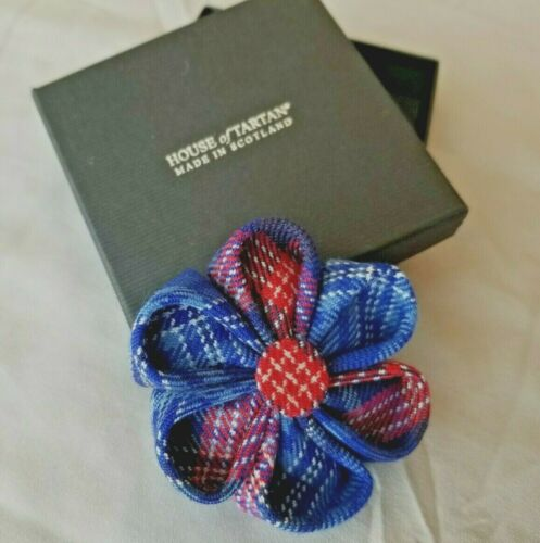 new Daughters of the American Revolution tartan Rosette brooch made in Scotland