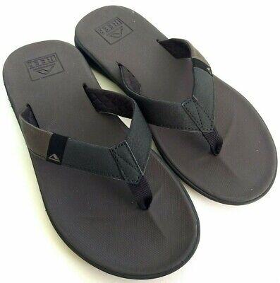Reef Slammed Rover Mens Size 8.5 Black Thong Sandals Slide Flip Flops -