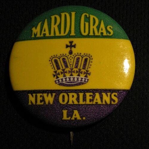 "VINTAGE 1.75"" MARDI GRAS PIN - NEW ORLEANS LA LOUISIANA - Pinback Button"