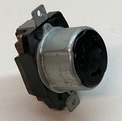 Hubbell 3769 Twist-lock Locking Receptacle 50a 600vac 250vdc 3-pole 4-wire Flush