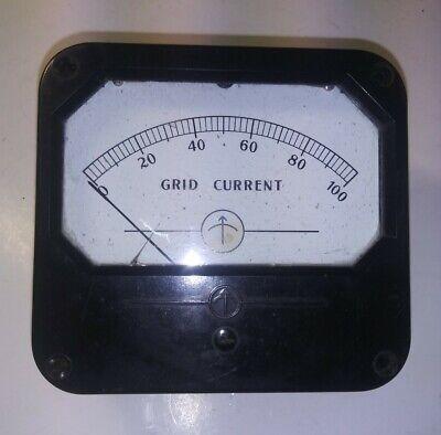 Vintage Grid Current Analog Panel Meter Simpson Weston 100ua Dc