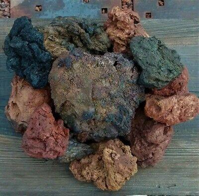 Aquarium Stacking Rock Lava DIY Cave Stone Kit Renewable Rare Multi Color 10 pcs