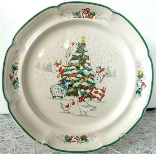 """International Country Christmas 12 1/2"""" serving plate 8966 Japan stoneware"""