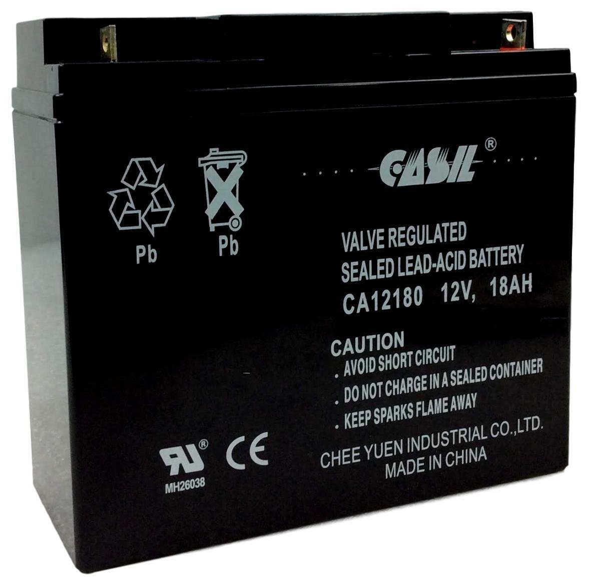 Ritar RT12180 Replacement Battery 12v 18ah By Casil