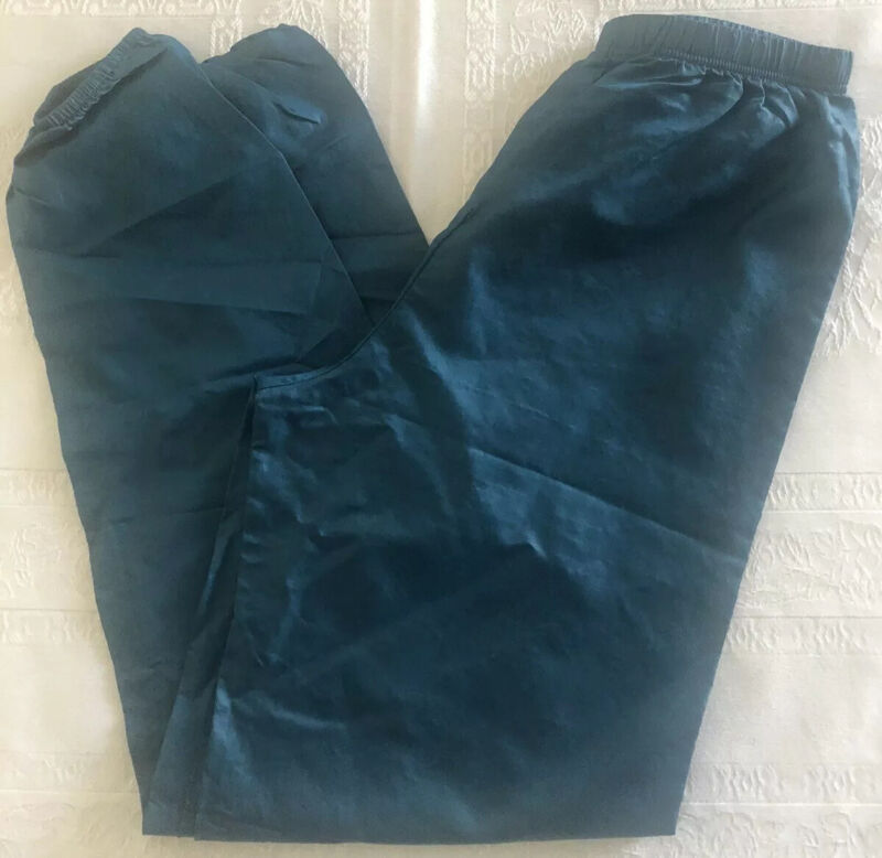 Body Wrappers Blue Rip Stop Garbage Pants Girls Size 12-14 EUC