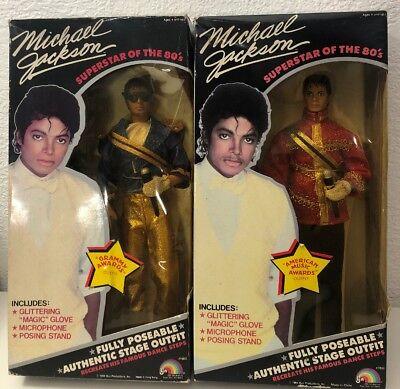 Lot of 2 Dolls Michael Jackson 1984 Poseable 11.5