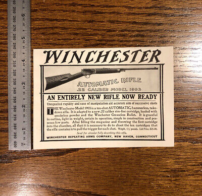 1904 Winchester Repeating Arms Co Company Vintage Antique Advertising US Hunting