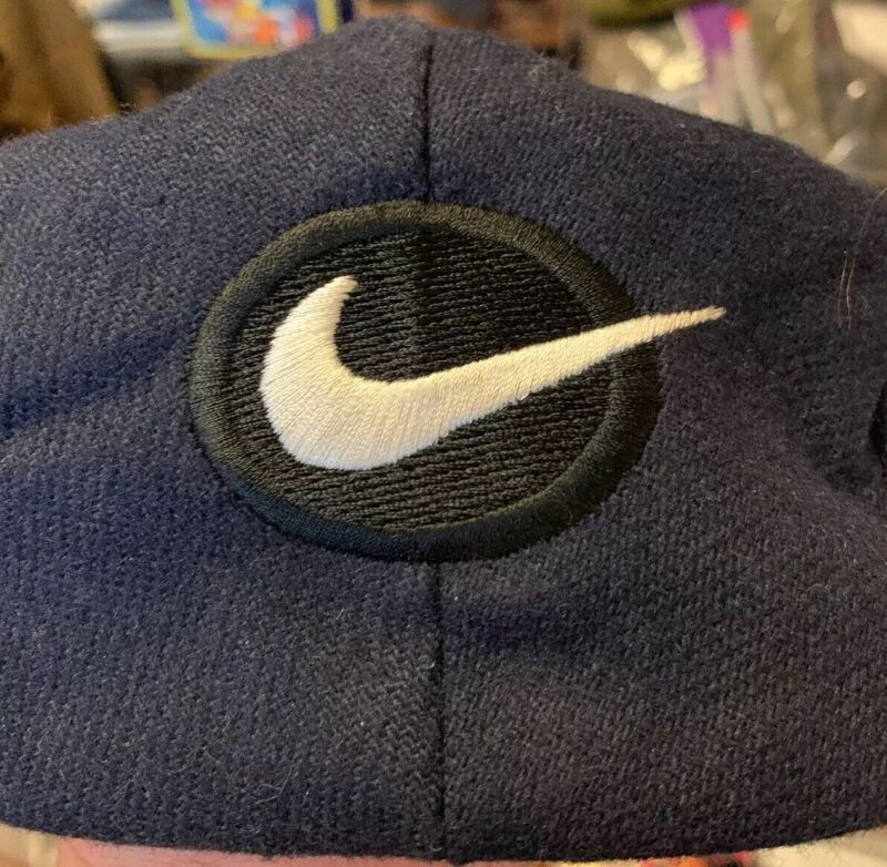 Vintage NIKE Newsboy Jordan Golf Fitted Snap Front  Hat Cap! Size L Made In USA.