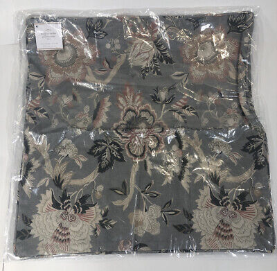 Pottery Barn Emmaline Print Pillow Cover 20x20in Linen Blend Neutral Floral NEW