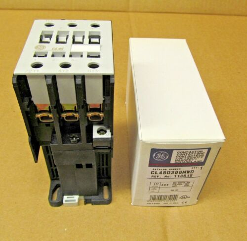 1 NIB GE CL45 CL45D300MWD CL45D300M 24VDC COIL CONTACTOR (13 AVAILABLE)