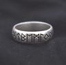 Nordic Viking Elder Futhark Rune Ring Size S