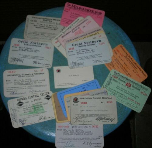 24 Pass Collection Of Northern Pacific Railway Executive