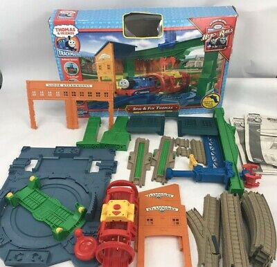 Thomas and Friends Trackmaster Spin and Fix Sodor Steamworks Train Set NOT COMPL