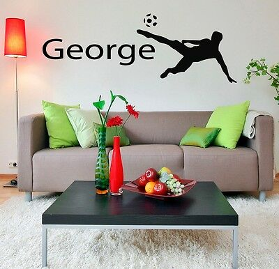 Wall Decal Name Boy Football Player Personalized Vinyl Sticker Sport Decor m574