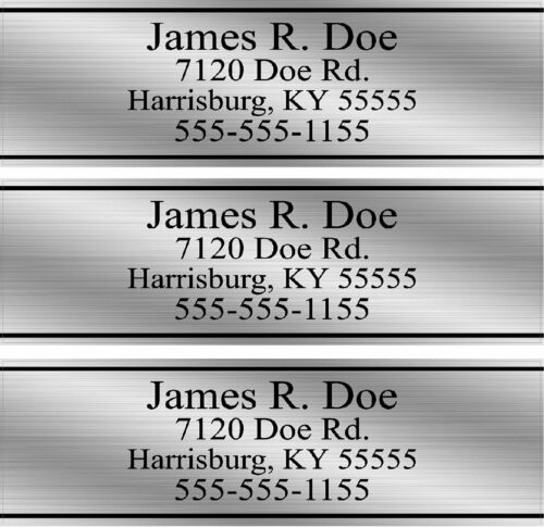 Custom Silver Club Shaft Labels With Your Name, Address & Phone Number