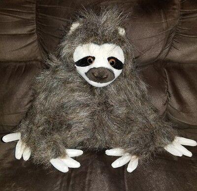 7  Sitting Three Toed Sloth Plush Stuffed Animal Toy