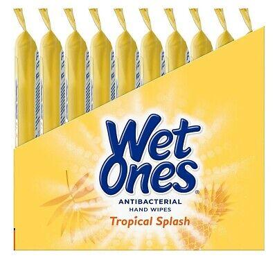 Wet Ones Hand Wipe Tropical Splash Travel Pack 10 Pack (20 Wipes Per Pack) #1998