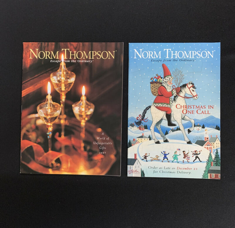Norm Thompson Catalog Holiday 1997 Lot Of 2 - Vintage Store Catalog