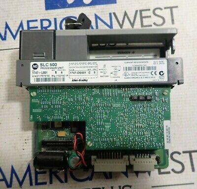 Allen Bradley Slc 500 1747-l551 Series B Proc Rev 4 Processor Unit Plc Card