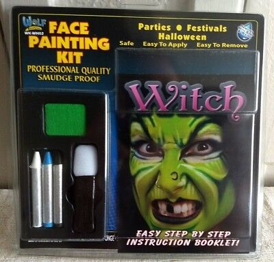 Halloween Make Up Witch Face Painting Kit -Wolf Novelties WK-WHO2 Free Shipping!