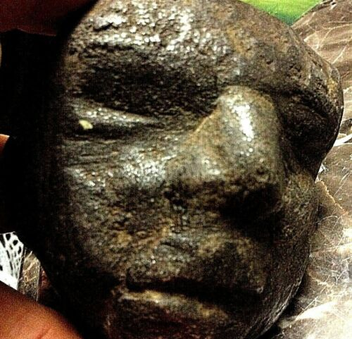 MYSTERIOUS ANCIENT ARTIFACT RARE formed IRON_ROCK CREATURE FACE AS FOUND