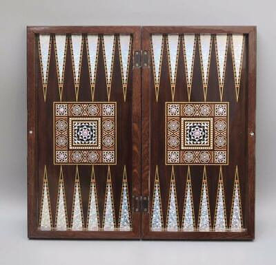 Magic Star Backgammon Turkish Premium Board Game Set The 19'' Dices Included