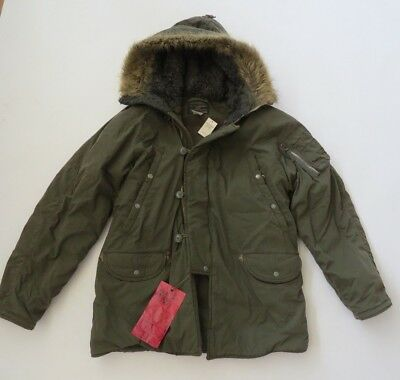 insulated Parka long Jacket coat M mens hooded Abercrombie Fitch A&F military