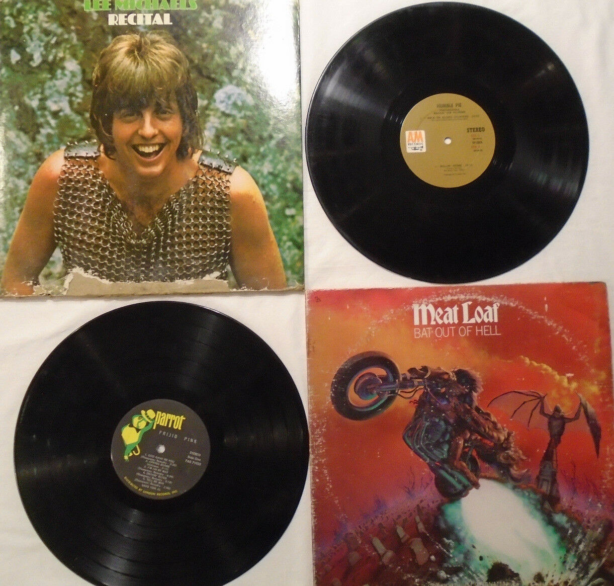 4 Records LP 80 s Lee Michaels Meat Loaf Frijid Pink Humble Pie Weir Sleeve - $8.00