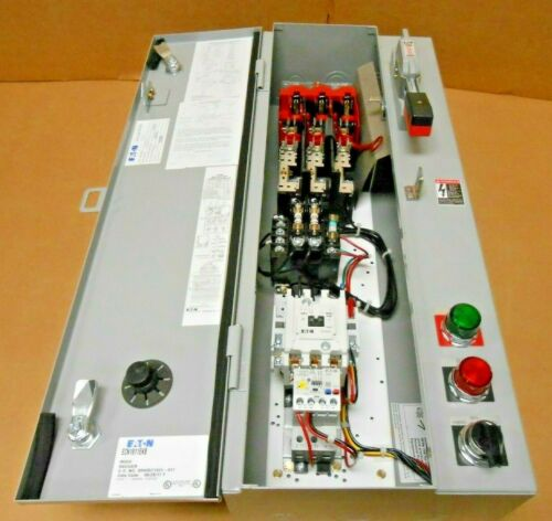 NIB EATON ECN1811EKB FVNR COMBINATION MOTOR STARTER SIZE 1 FUSED 30A 120V COIL