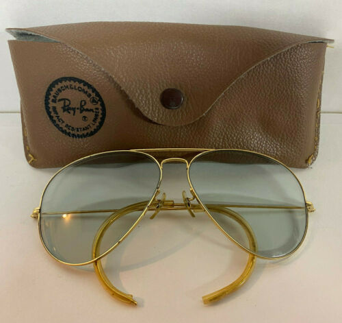 Vtg B&L Ray Ban Wrap Around Aviator Shooting Sunglasses 62-14 Glasses Made USA