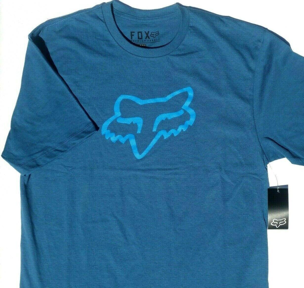 Fox Racing Men's Legacy Fox Head Short Sleeve T Shirt Blue/B