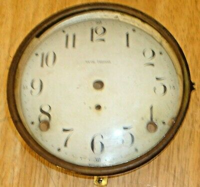 Antique Seth Thomas Column Mantel Clock Dial / Face, Bezel & Glass Crystal Vtg