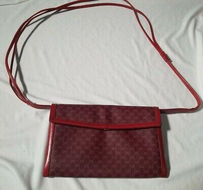 Vintage Gucci Clutch / Crossbody Red Monogram Bag