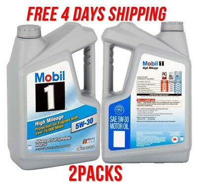 (Mobil 1 5W-30 High Mileage Full Synthetic Motor Oil Engine Vehicle Car Fluids )