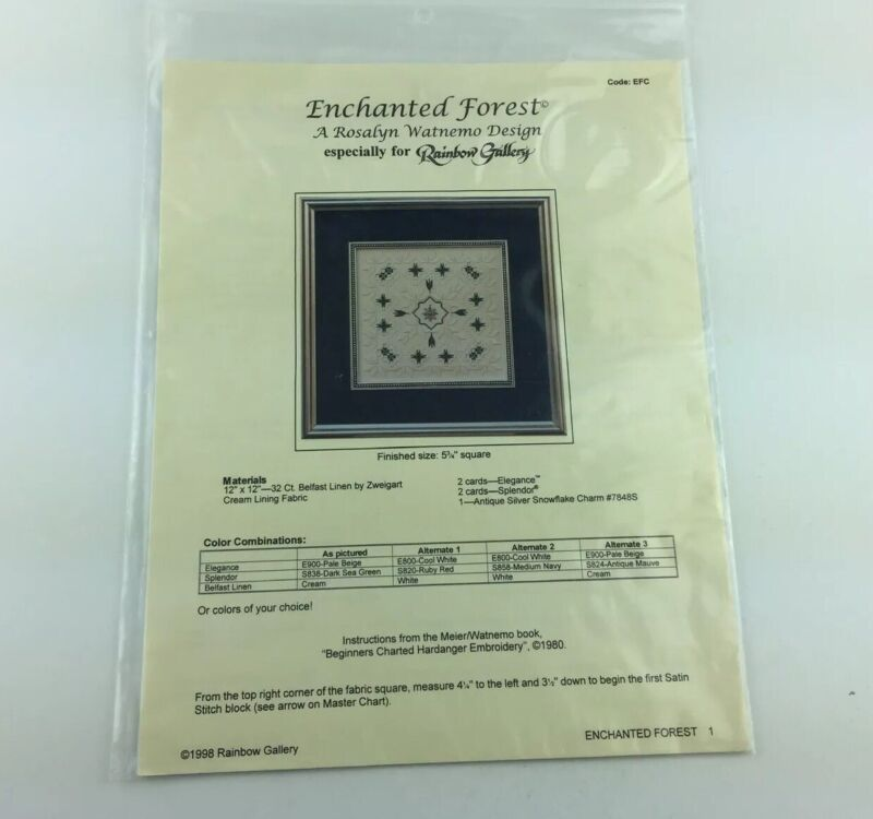 Rainbow Gallery Enchanted Forest Needlepoint Pattern By Rosalyn Watnemo