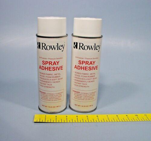 Lot of 2 Rowley AS30 All-Purpose Spray Adhesive Pressure Sensitive 16.25 OZ