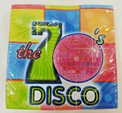 DISCO Ball 70s Flash Fever Dance Party Mid Century Paper Sm Coctail Bev NAPKINS](Cheap Disco Ball)