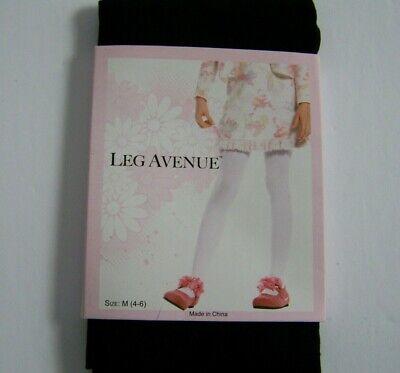 Leg Avenue Girls Opaque Tights Black Dance Halloween Costume Small 1-3 New ](Girls Black Opaque Tights)