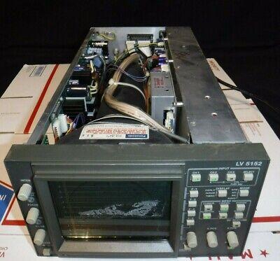 Leader Lv5152 Multiformat Waveform Monitor For Parts Or Repair Read