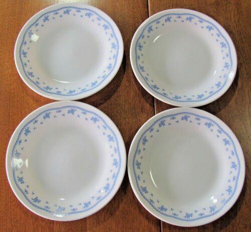 Vintage Corning Corelle Morning Blue Floral 4 Bread/Dessert Plates
