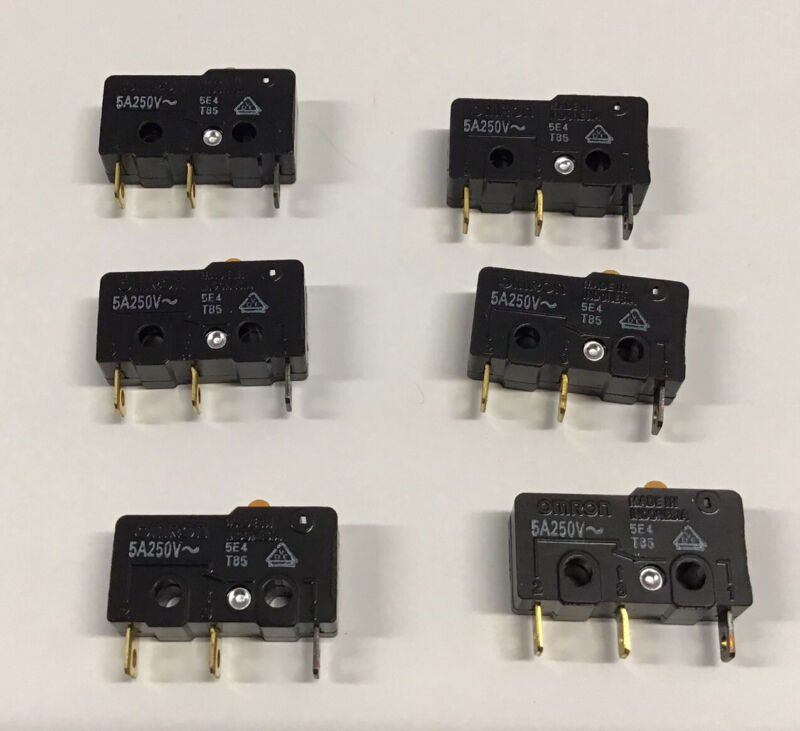 OMRON SS-5 MICRO SWITCH 5A 125VAC 3A 250VAC (Pack of 3)