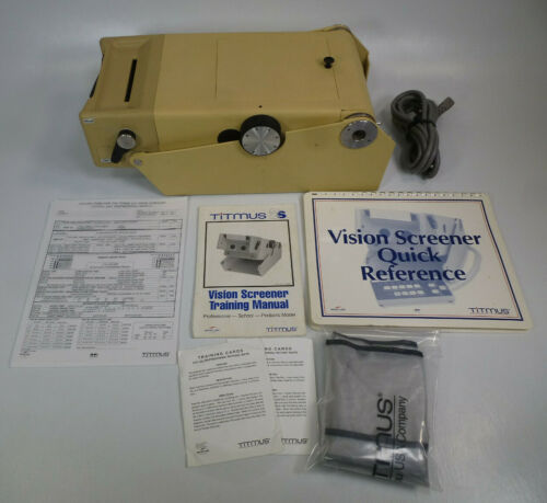 Titmus 2s Vision Tester w/ Training Manual, Blank Record Forms, Dust Cover, etc