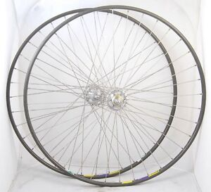 NOS Tubular Track Fixed Wheelset Wheels Campagnolo Record Hubs Mavic GP-4 Rims