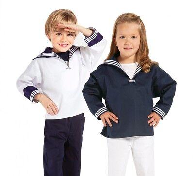 Modas Kinder Matrosenhemd Marine Hemd Matrose Seemann für Jungen weiß oder blau