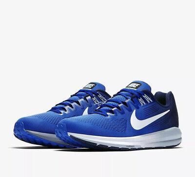 Nike AIR ZOOM STRUCTURE 21 UK 8 EU 42.5 Running Mega Blue 904695 402